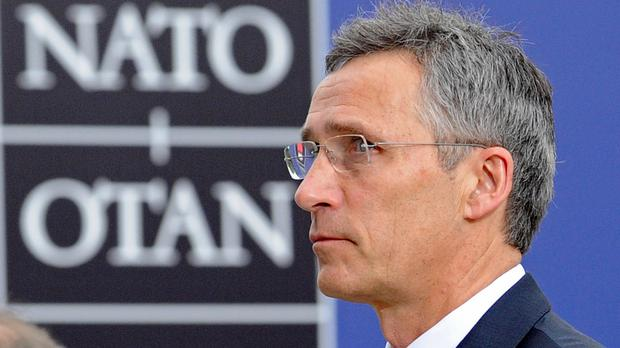 Secretary general Jens Stoltenberg at the Nato summit in Warsaw, Poland (AP)