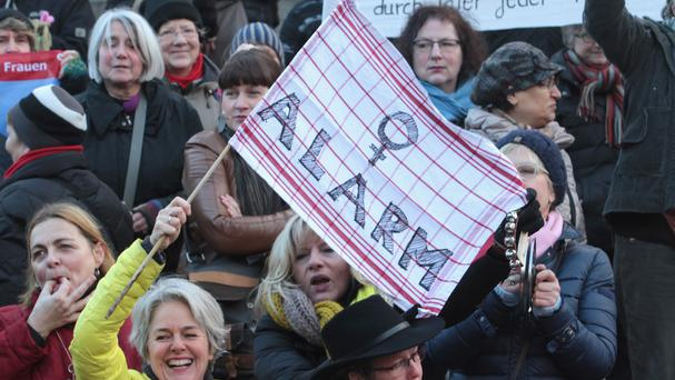 Demonstrations took place across Germany in the aftermath of a string of New Year's Eve sexual assaults and robberies (AP)