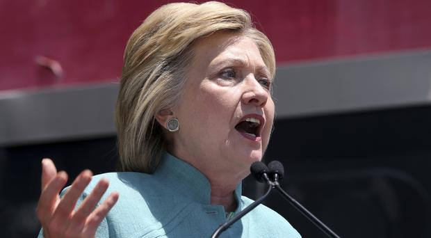 Republicans have asked the US Justice Department to investigate whether Hillary Clinton, pictured, lied to Congress (AP)