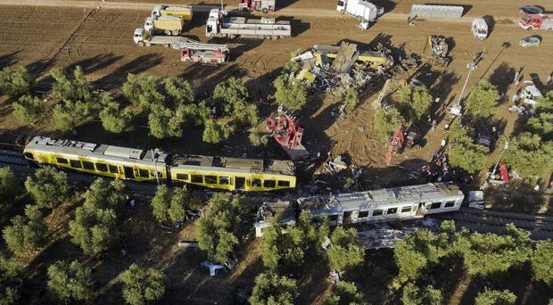 At least 23 people died in the head-on collision between two trains (AP)