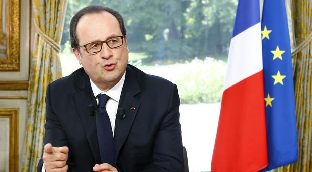 Francois Hollande said the state of emergency will be lifted (AP)