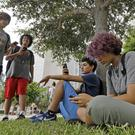 Pokemon Go players in downtown Miami.