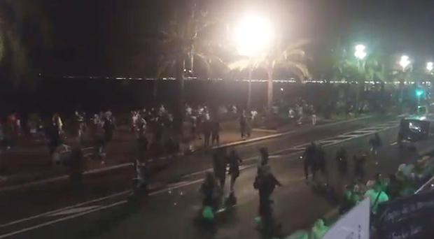 People flee after the attack in Nice (harp_detectives/PA)