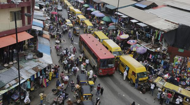 Lagos in Nigeria, where officials are closing down dozens of churches, mosques and nightclubs in a bid to reduce noise (AP)