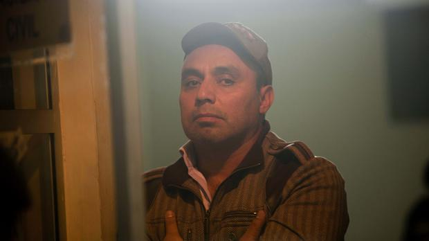Byron Lima pictured in 2012 - the former Guatemalan army captain has been killed in a prison riot (AP)