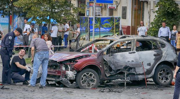 Journalist Pavel Sheremet was killed in a car bombing in Ukraine's capital Kiev (AP)