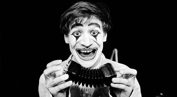 Dimitri the clown has died aged 80 at his home in Switzerland (AP)