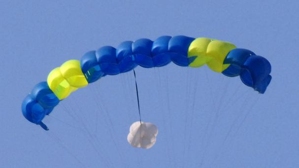The woman's parachute failed to open in the incident