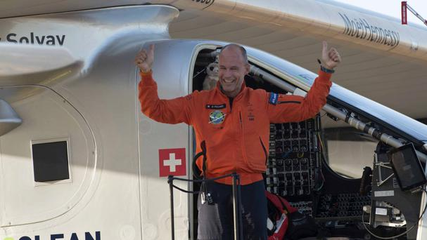 Pilot Bertrand Piccard is on the last leg of his historic voyage - heading back to Abu Dhabi where he began in March 2015 (AP)