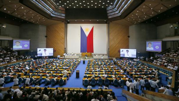 President Rodrigo Duterte delivered his state of the nation address at the 17th Philippine Congress session (AP)