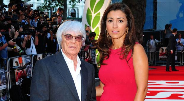 Bernie Ecclestone and his wife Fabiana Flosi