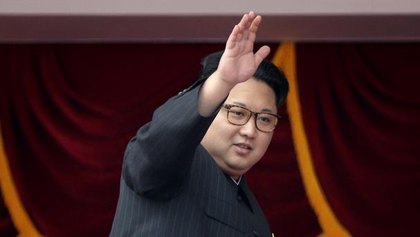 North Korean leader Kim Jong Un pictured at a parade in Pyongyang - Seoul says his country has fired a ballistic missile (AP)