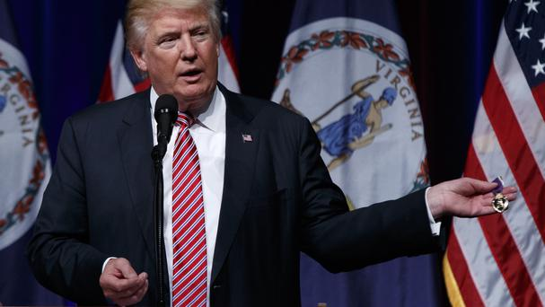 Republican presidential candidate Donald Trump continues to campaign as row in party brews.