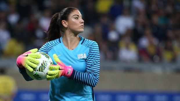 United States goalkeeper Hope Solo at the Mineirao stadium in Belo Horizonte, Brazil (AP)