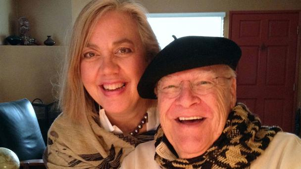 David Huddleston, pictured with his wife Sarah C Koeppe. The character actor has died aged 85 (Sarah C Koeppe/AP)