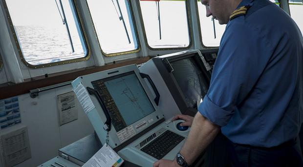 Crew on survey ship HMS Echo helping the search in the southern Indian Ocean for the flight recorder from missing Malaysia Airlines Flight MH370 (MoD/PA)