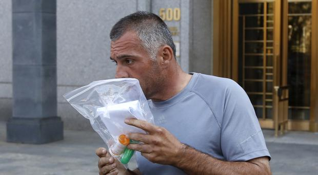 Anthony Cassetta leaves federal court in New York (AP)