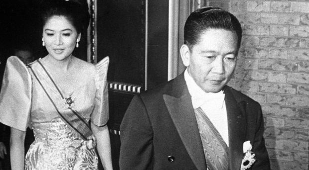 The late dictator of the Philippines Ferdinand Marcos and his wife Imelda