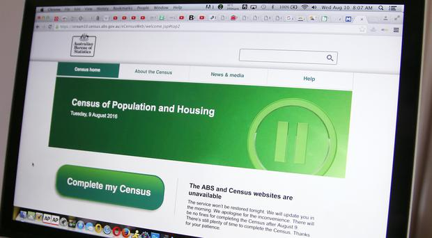 The web page of the Australian Bureau of Statistics shows that it is unavailable after several cyber-attacks (AP)