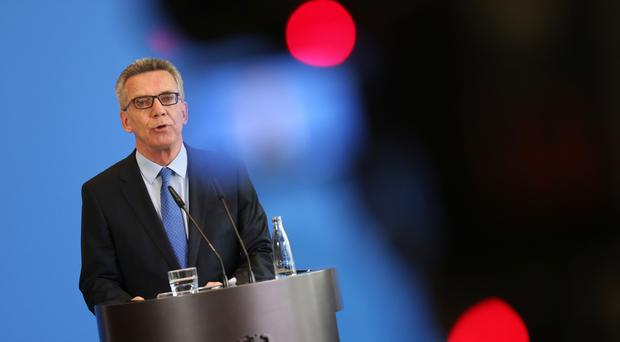 German Interior Minister Thomas de Maiziere presents measures for increased security (AP)