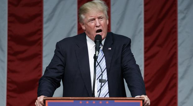 Republican presidential candidate Donald Trump is pushing for an election upset in Fairfield, Connecticut (AP)