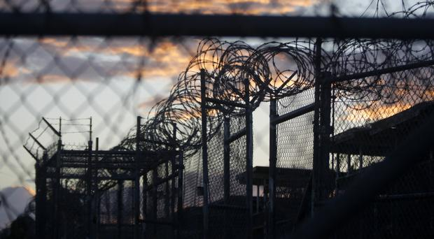 The now-closed Camp X-Ray at the Guantanamo Bay Naval Base - the Pentagon announced 15 prisoners were released to the UAE (AP)