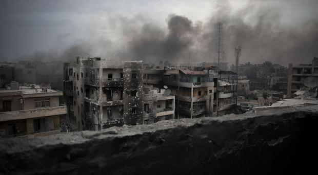 Aleppo has been heavily bombed (AP)