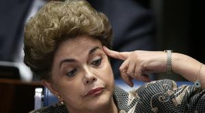 Suspended Brazilian President Dilma Rousseff during her impeachment trial (AP)