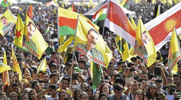 Thousands of Kurds demonstrate in Cologne (AP)