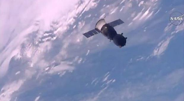 A Soyuz capsule releases itself from the International Space Station (European Space Agency/PA)