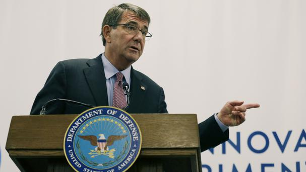 Defence Secretary Ash Carter criticised Russia for what he says is Moscow's