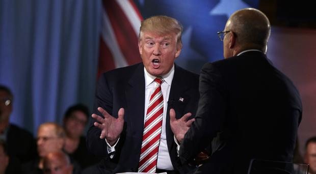 Donald Trump speaks with Today show co-anchor Matt Lauer in New York (AP)