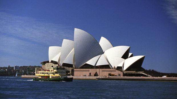 The teenager was arrested outside Sydney Opera House