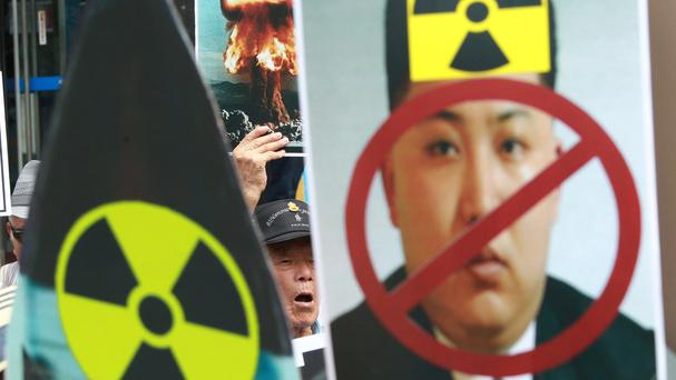 South Korean protesters denounce North Korea's latest nuclear test (AP)