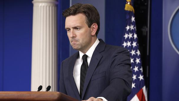 White House press secretary Josh Earnest listens to a question during his daily briefing at the White House. (AP)