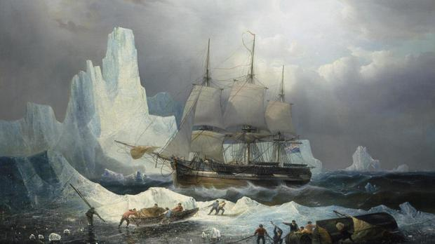 Painting of HMS Erebus which was discovered in 2014
