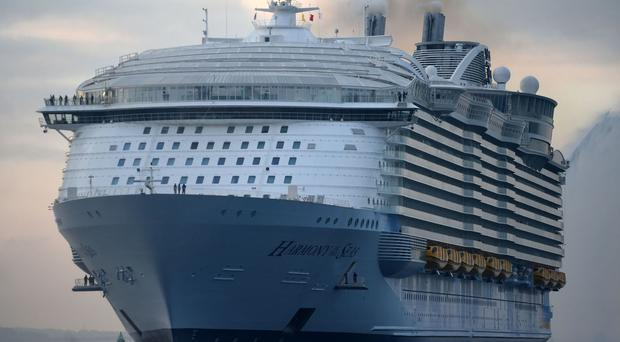 A crew member on Harmony of the Seas has died in a lifeboat drill