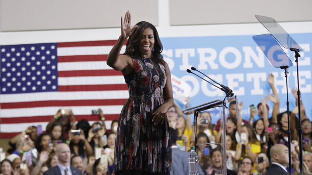 Michelle Obama at a campaign rally in support of Hillary Clinton (AP)