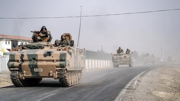 Last month, Turkey sent tanks across the border into Syria to help rebels clear territory of IS militants and to contain the expansion of a Syrian Kurdish militia (AP)