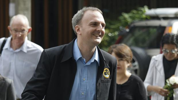 Andy Hall arrives at the Bangkok South Criminal Court (AP)