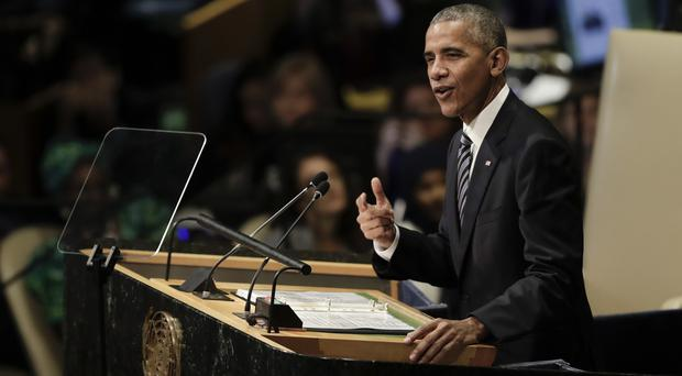 President Barack Obama addresses the 71st session of the United Nations General Assembly (AP)