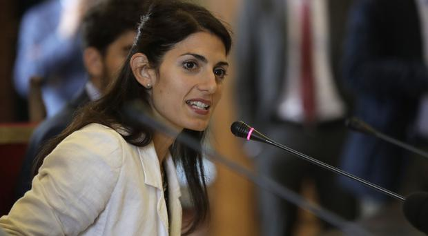 Rome's mayor Virginia Raggi (AP)
