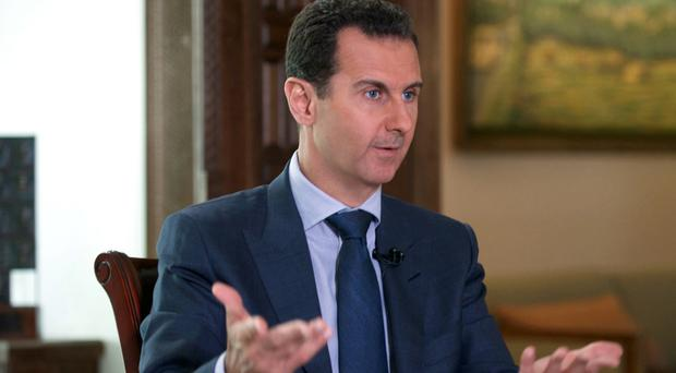 Syrian president Bashar Assad US air strikes on Syrian troops were