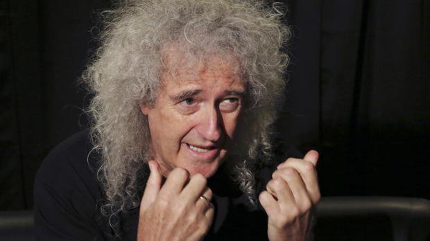 Brian May speaks during an interview with the Associated Press in Tokyo (AP)