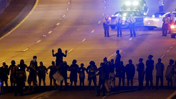 Protests have continued following the fatal police shooting of Keith Lamont Scott in Charlotte, North Carolina (AP)