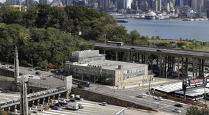 The Lincoln Tunnel connects Manhattan and Weehawken, New Jersey (AP)