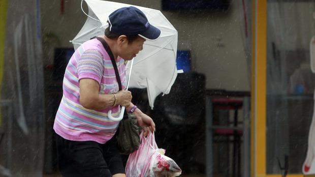 Strong winds from big typhoon hit Taiwan, at least 4 dead