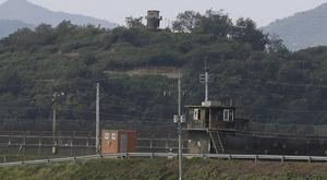 Military guard posts of North Korea near the border with South Korea (AP)