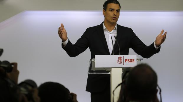 Spain's socialist leader Pedro Sanchez (AP)