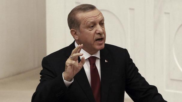 Recep Tayyip Erdogan was said to have been insulted in the poem (AP)